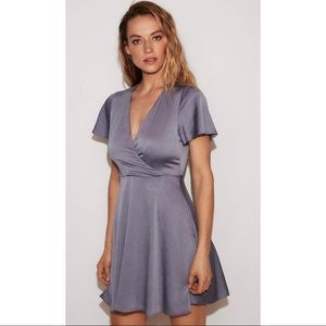 Express flutter sleeve wrap dress